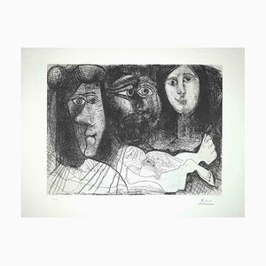 Pablo Picasso, Self Portrait with Two Women from the Fall of Icarus, 1972