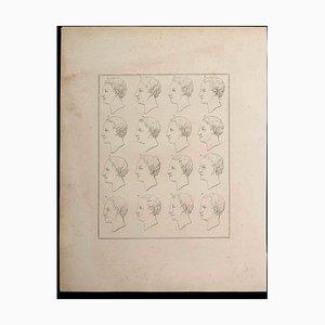 Thomas Holloway, Profiles of Man, Etching, 1810