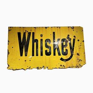 Antikes amerikanisches Emailliertes Whiskey Schild