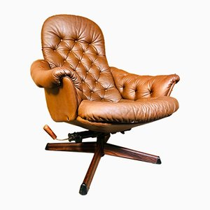 Vintage Danish Reclining Lounge Chair from Gote Mobler, 1970s