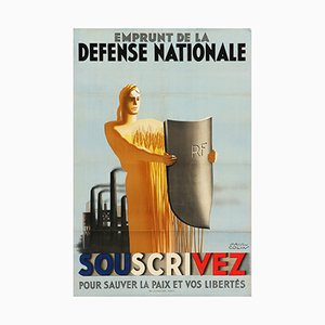 Poster Emprunt de la Défense Nationale di Paul Emile Colin, anni '30