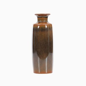 Vaso lungo Mid-Century moderno in ceramica di Carl-Harry Stalhane per Rorstrand, anni '60