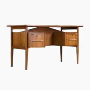 Danish Freestanding Teak Desk by Gunnar Nielsen for Tibergaard, 1960s