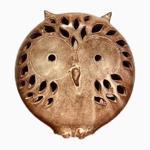 Ceramic Owl Lamp by Honoré Camos, Vallauris, 1960s