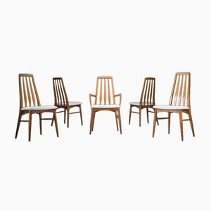 Esszimmerstühle von Niels Koefoed für Hornslet Møbelfabrik, 1960er, 5er Set