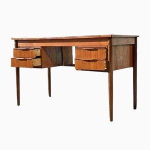 Mid-Century Freestanding Danish Teak Desk by Bent Silberg, 1960s
