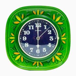 Herbolzheimer Ceramic Wall Clock from Dugena, 1960s or 1970s