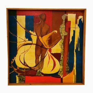 Peinture à l'Huile Post-Futuriste, 1950s