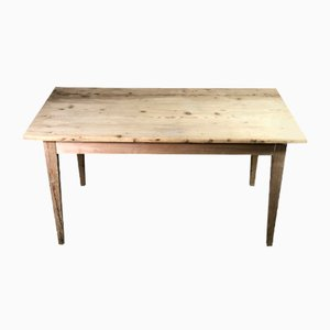 Farmhouse Table in Raw Pitch Pine, 1900s