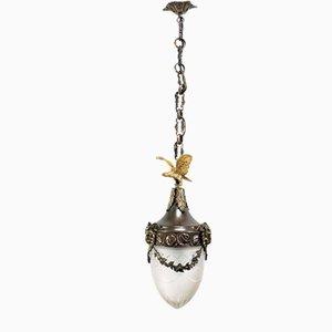 Art Nouveau Ceiling Lamp with Drops