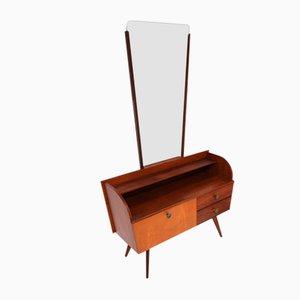 Vintage Frisiertisch oder Kleines Sideboard mit Spiegel, 1960er