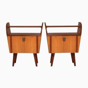 Tables de Chevet Vintage, 1960s, Set de 2