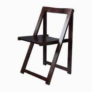 Wooden Folding Chair by Aldo Jacober for Alberto Bazzani, 1970s, Set of 4