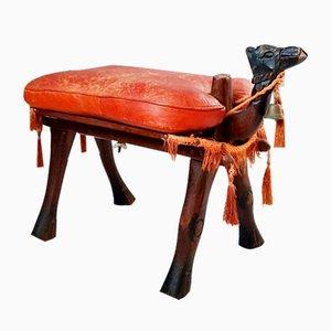 Camel Saddle Stool or Footstool, 1950s