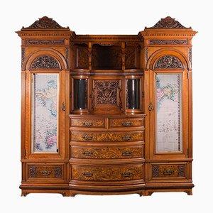 Armadio Compactum antico vittoriano in noce di Gillow & Co