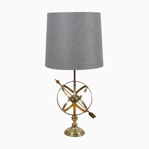 English Armillary Table Lamp, 1950s