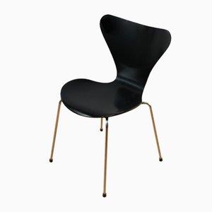 Black Chairs by Arne Jacobsen for Fritz Hansen, Set of 6