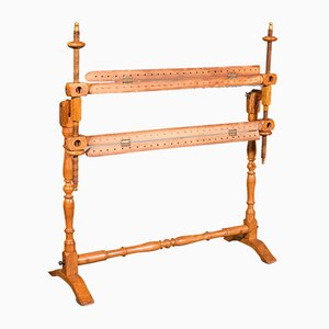 Antique English Victorian Beech Tapestry Stretcher or Needlepoint Frame, 1900