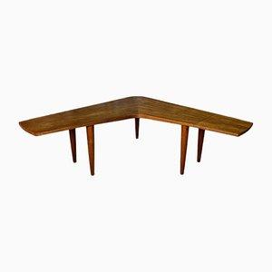 Table Basse Boomerang Scandinave en Teck de Samcom, 1960s
