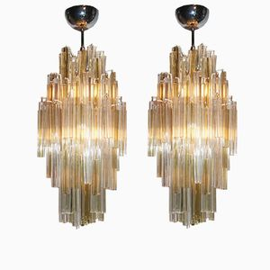 Triedi Chandeliers from Venini, 1960s, Set of 2