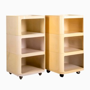 Vintage Modular Trolley Cabinets by Anna Castelli Ferrieri for Kartell, 1970s, Set of 2