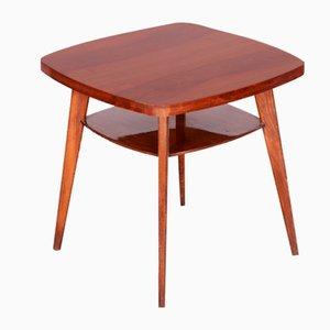 Mid-Century Czech Walnut Side Table, 1950s