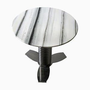 Maxwell Beistelltisch mit Marmorplatte und Metallgestell von Claudio Cappellini für Hessentia