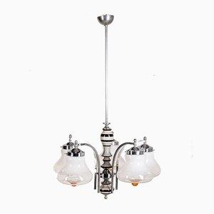 Lustre à Cinq Lampes Vintage en Verre de Murano, 1960s