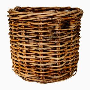 Large Vintage French Wicker Basket