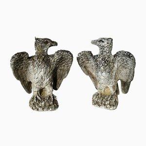Vintage Italian Stone Eagles, Set of 2