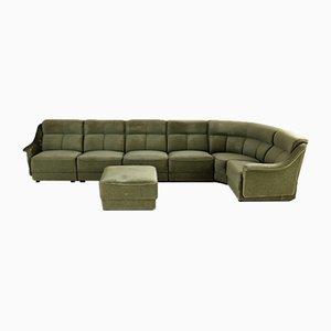 Großes grünes Vintage Sofa, 8er Set