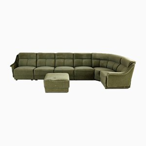 Large Vintage Green Sofa, Set of 8