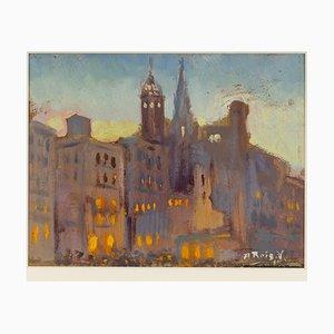 Alfred Roig Valantí, Stadtblick, 1920er