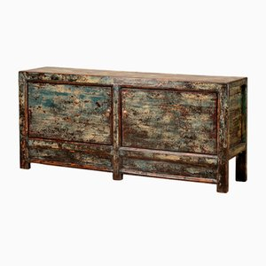Crackled Oriental Buffet in Blue and Cream