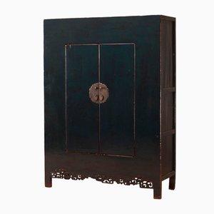 Large Teak Lacquer Storage Cabinet