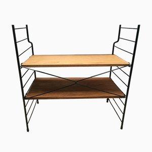 Kleines Loft Bücherregal aus Metall und Holz