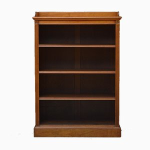 Figured Walnut Open Bookcase from James Shoolbred