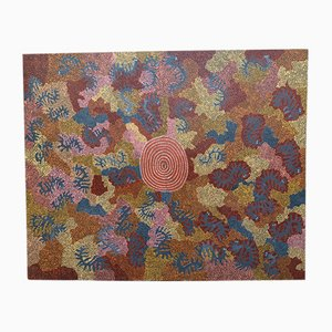Cassidy Tjapaltjarri, Kupatur Caterpillar, Aboriginal Painting, 1970