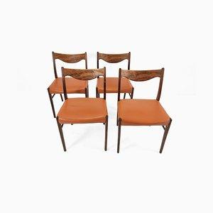 Sedie da pranzo di Arne Wahl Iversen, Danimarca, 1960, set di 4