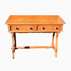 Table d'Appoint à 2 Tiroirs en Chêne de Maple & Co, 1940s
