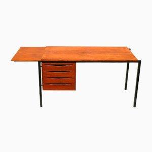 Vintage Schreibtisch mit Schubladen und ausziehbarer Tischplatte, 1960er