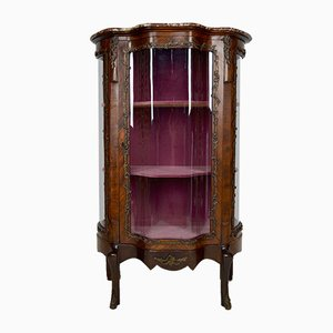 Napoleon III Showcase with Curved Glass, France, 19th Century
