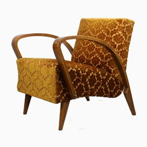 Art Deco Orange Armchair by Jindřich Halabala