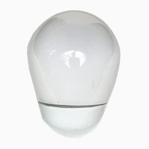 White Porcelain and Milk Glass Shade Sconce by Wilhelm Wagenfeld for Lindner