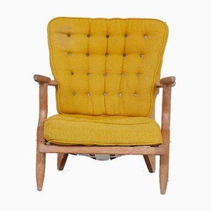 Mid-Century French Repos Armchair by Guillerme Et Chambron