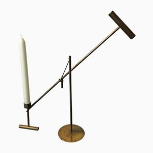 Brass Movable Candleholder from Vos, Netherlands, 1970s