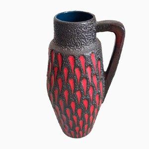 Vase de Plancher Fat Lava Vintage en Céramique avec Poignée, 1960s