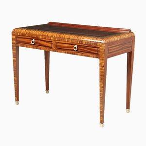 Art Deco Writing Table in Zebrano