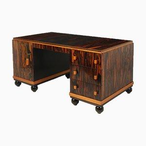 Französischer Art Deco Schreibtisch aus Macassar Ebenholz