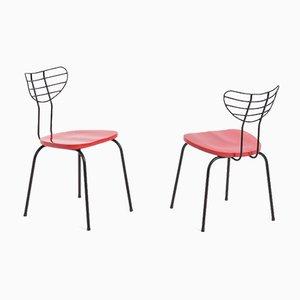Red Radar Chairs by Willy Van Der Seas, Set of 2